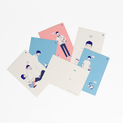 韓國網路劇《A-TEEN》周邊商品明信片