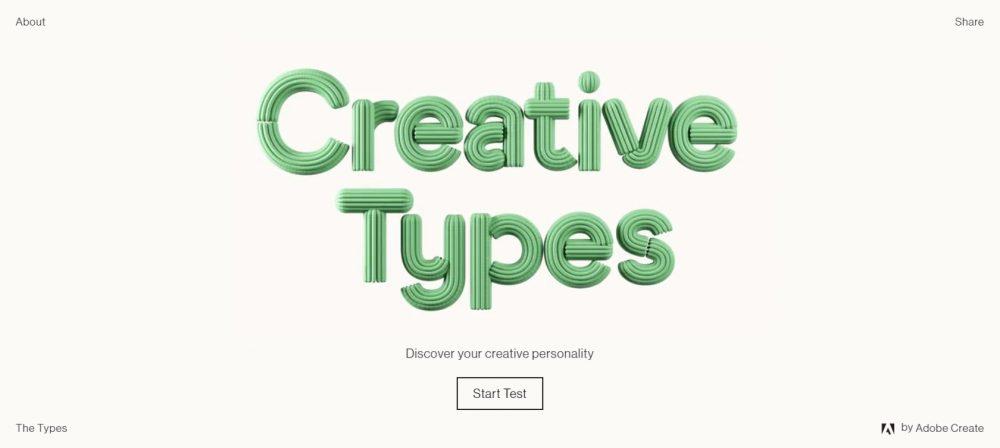 Adobe推出的超準人格心理測驗!畫面質感滿分,你試過了嗎?