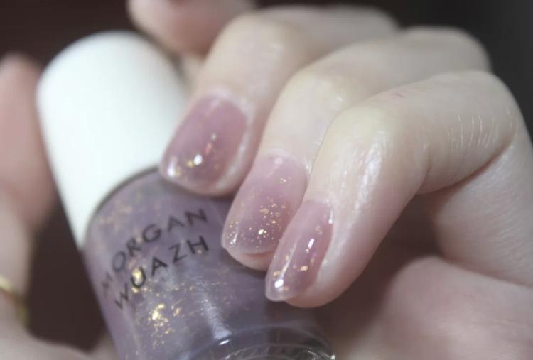 小仙女落在指尖!超夢幻『雪透粉紫』指甲靈感,隨意暈染都超美~