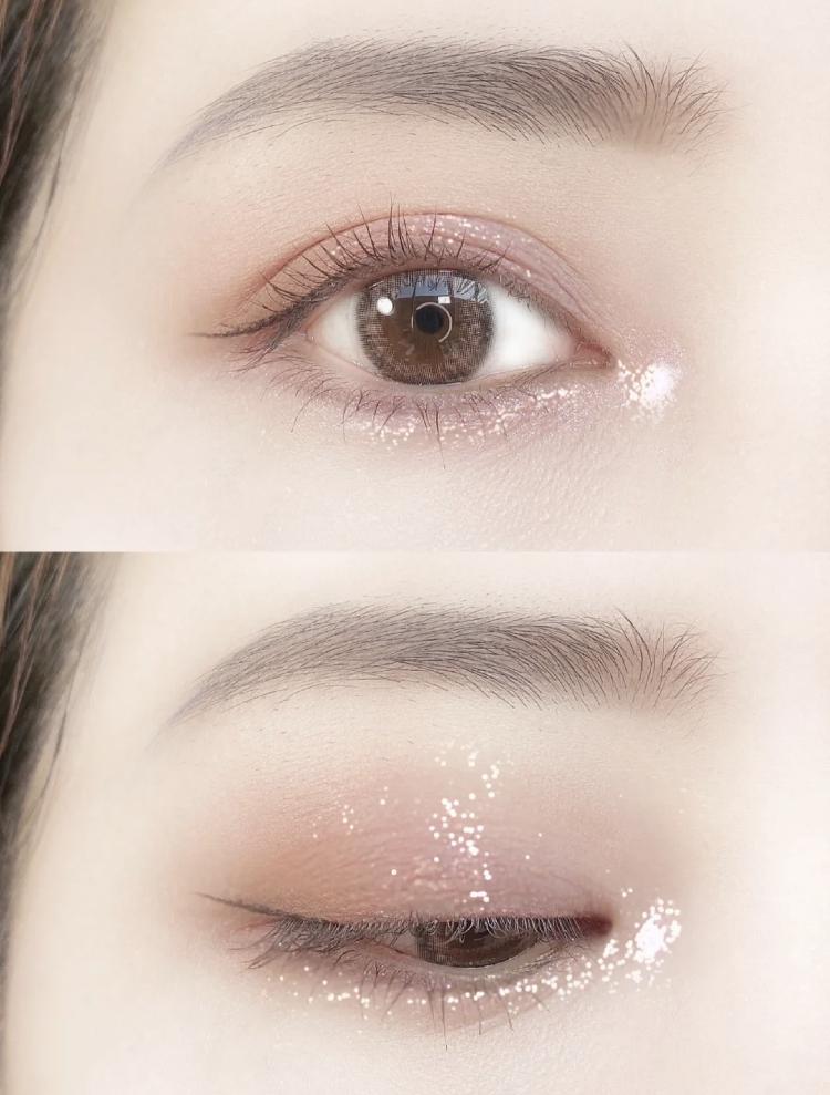 簡單有層次眼妝這樣畫!爆閃『櫻花粉雪晶』,浪漫又充滿仙氣的美色~