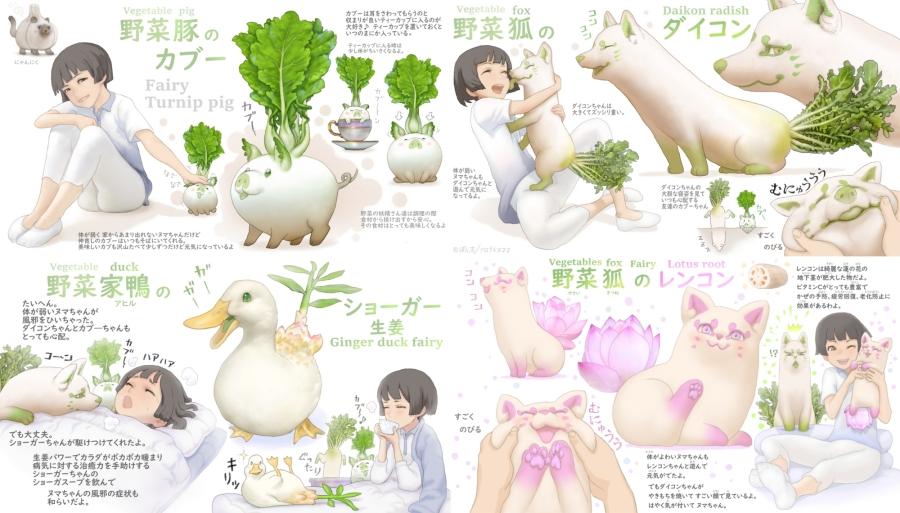 超萌蔬菜精靈公仔(野菜の妖精)