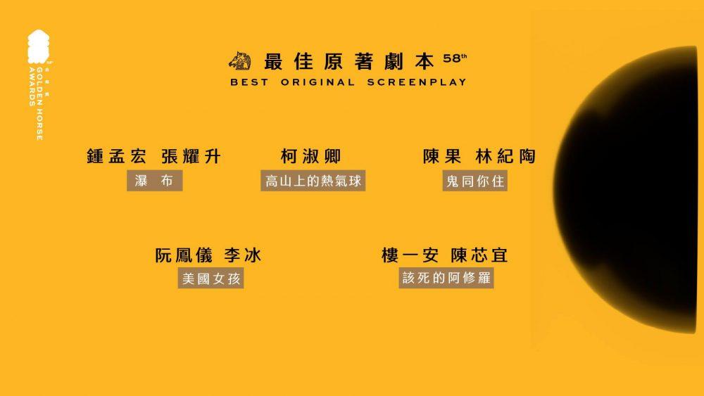 【波波快訊】不斷更新》金馬58入圍完整名單出爐!龍劭華也入圍了!