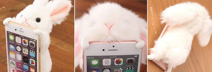 最近韓妞SNS上最夯的話題:讓毛茸茸的兔子趴在你的手機背蓋上吧!