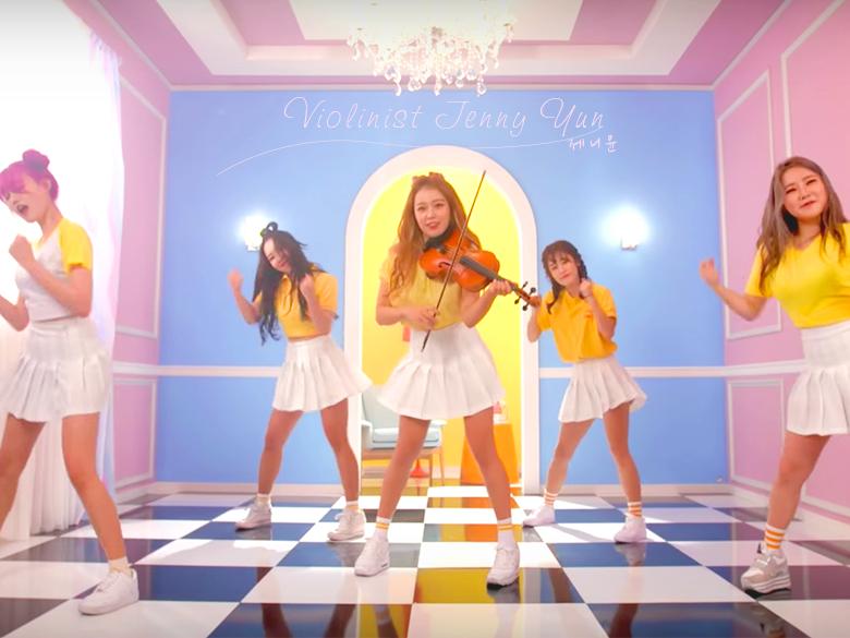超有才華的韓國歐膩 Jenny Yun!邊拉小提琴邊跳舞,看完我才知道一心多用四個字怎麼寫!