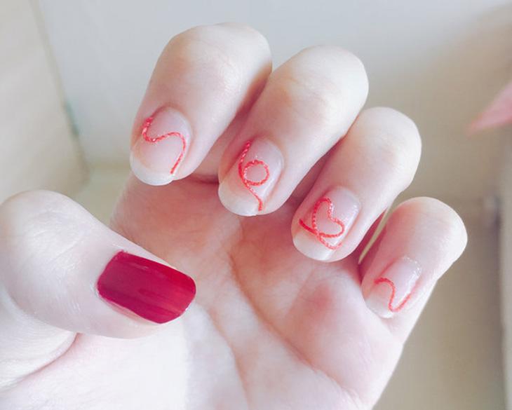心情好了桃花自然來,先從指尖的愛心圖騰開始,隨時為自己注入滿滿愛意吧!