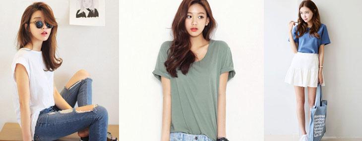 世界上最好搭的單品就是素T了,讓韓系女孩教妳,如何穿搭出最流行的素T-style吧!