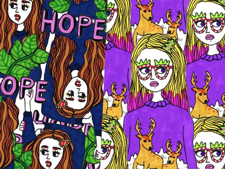 從神志錯亂的重疊風、到變成日本街頭時尚指標,這位英日混血IG插畫家帶你走進她的搞怪世界!