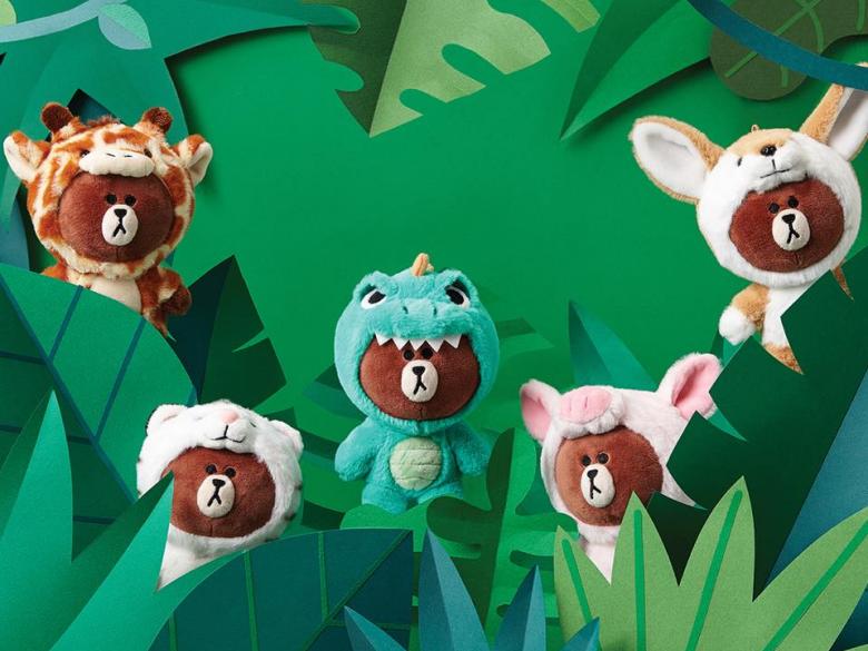 熊大難道是想參加韓綜《叢林的法則》嗎?LINE FRIENDS今夏換上JUNGLE新裝登場啦!
