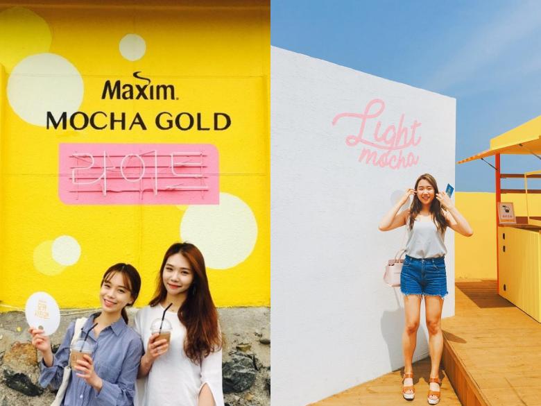 韓國咖啡品牌Maxim變身成「金黃色拍照勝地」啦~摩卡寫真館咖啡廳限時開催中!