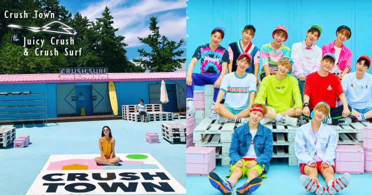 完全不需要濾鏡的夢幻「粉藍衝浪咖啡廳」,連Wanna One專輯封面也衝來這裡拍啦!